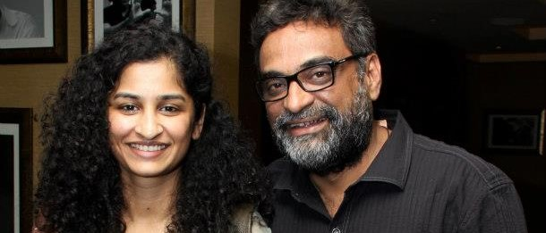 R Balki and Gauri Shinde at the primier of the film ENGLISH VINGLISH in New Delhi