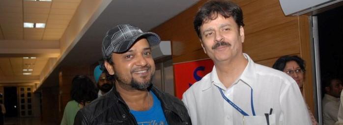 Sajid and Jawahar Wattal at Siri Fort the show of Sangam Kala Group